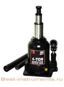 TF0402 Домкрат бутылочный с двумя штоками, 4 т с клапаном h min 160 мм, h max 390 мм BIG RED