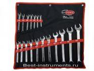 5181 Набор ключей комбинированных Rock FORCE на полотне, 18 предметов.